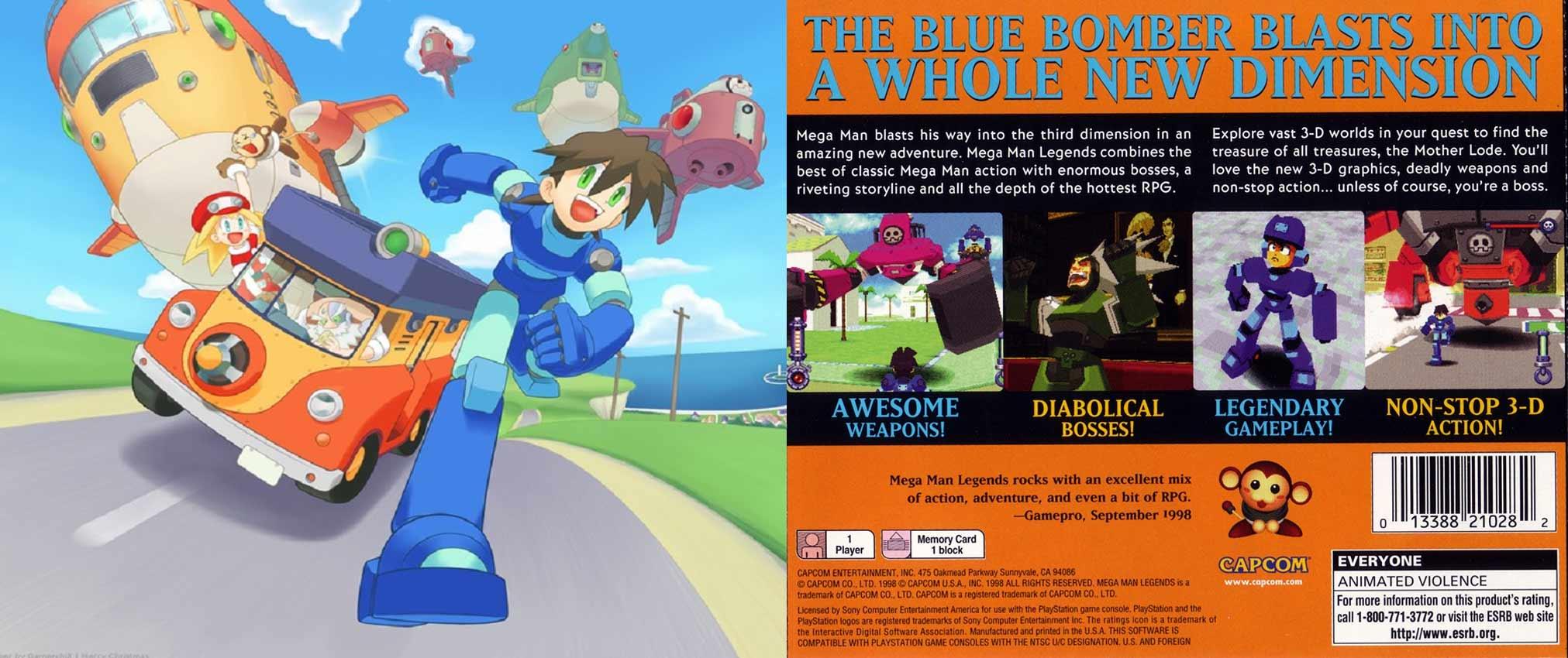 mega man legends no spoilers review box art